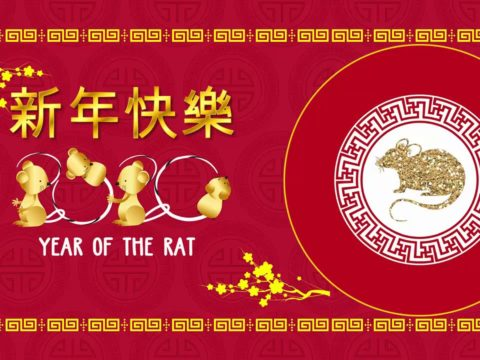 Baner CHiński Nowy Rok